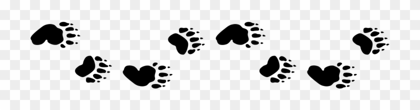 Picture - Bear Tracks Clip Art #201234