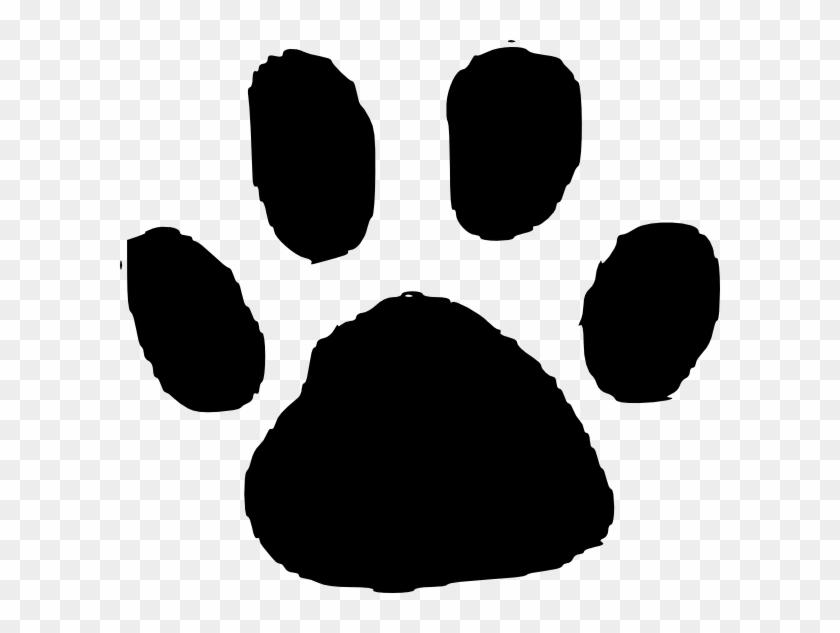 Animal Track Footprint Dog Clip Art - Animal Footprint #201248
