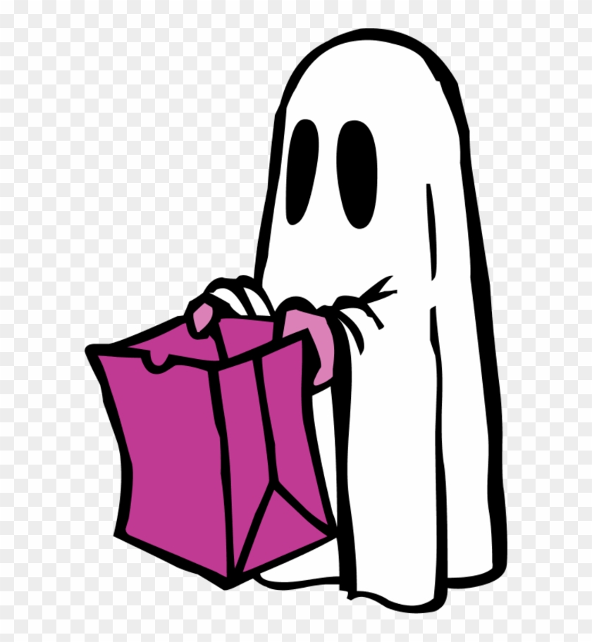 Ghost With Bag Colour - Halloween Coloring Pages For Kids - Free ...