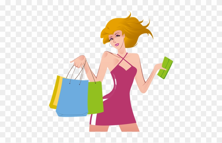 Shopping Png Transparent Shopping - Logo Girl Shopping Png #201486