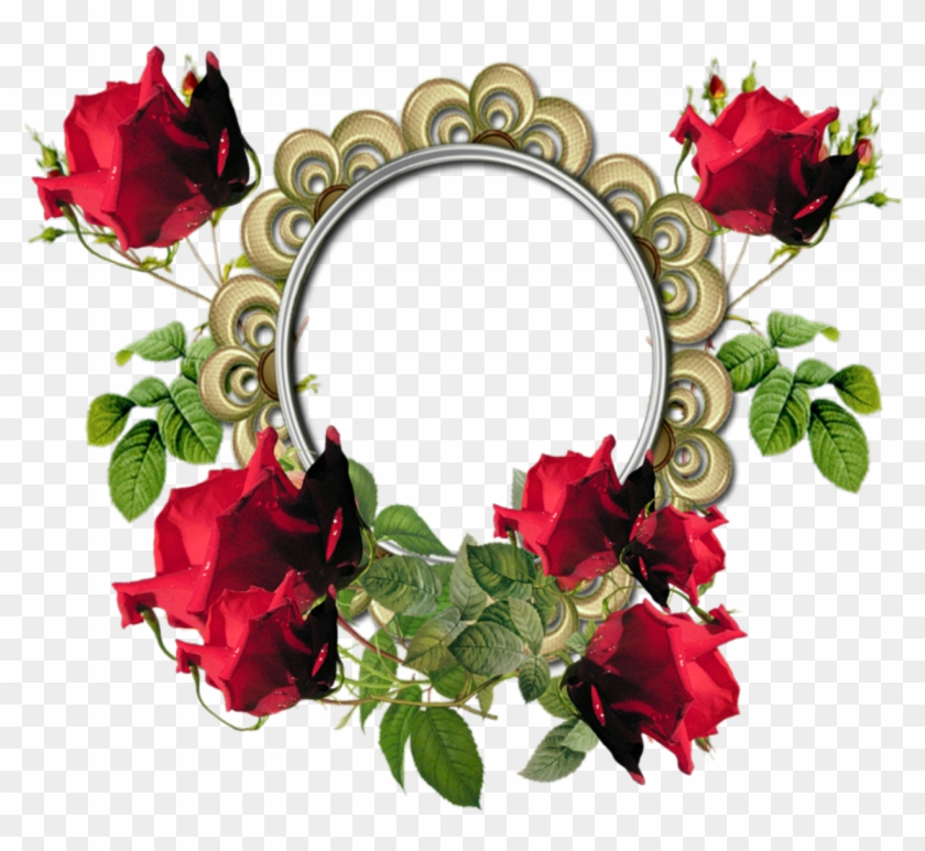Red Flower Frame Png Photos Png Mart - Rose Flower Frames Png #201863