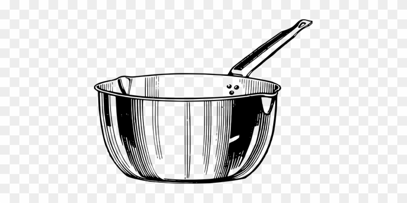 Cooking Kitchen Pan Pot Simple Cooking Coo - Cooking Pot Line Drawing #201894