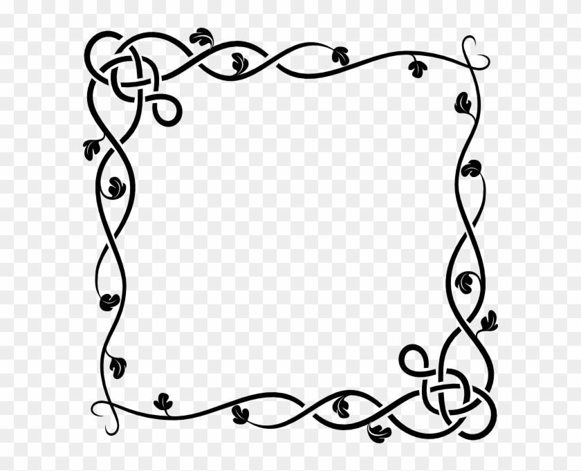 Clipart Info - Draw A Vine Border #201929