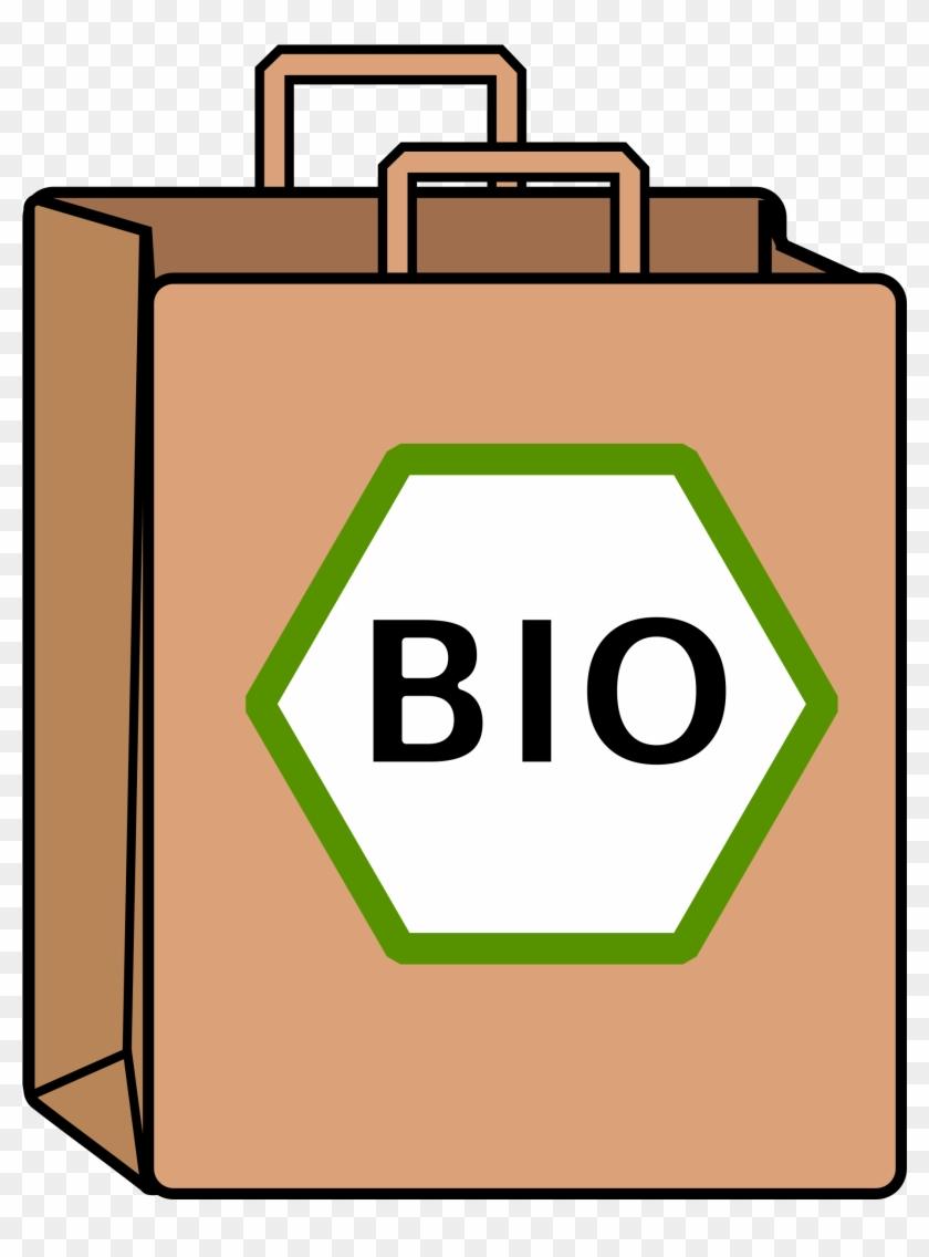 Bag Clipart Food Shopping - Organic Shop Png #201975