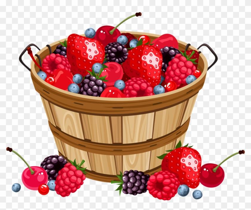 Fruit Basket - Strawberry Basket Clipart #202219