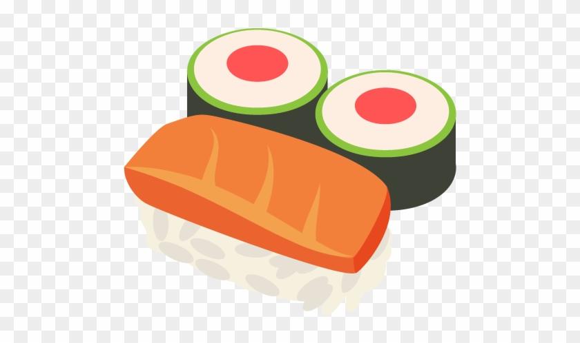 Sushi Emoji Vector Icon - Sushi Emoticon #202340