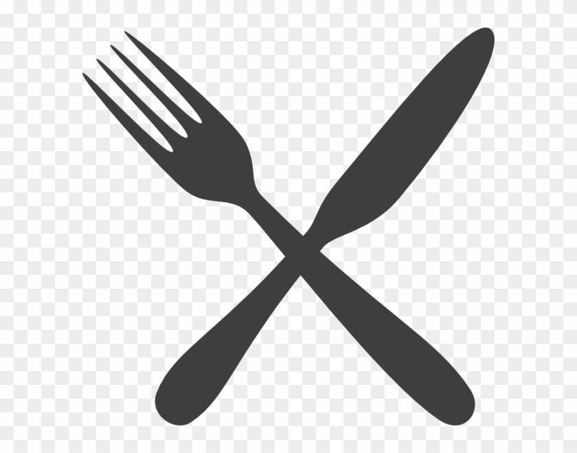 Gray Silverware Clip Art At Clker - Fork And Knife Clipart #202348