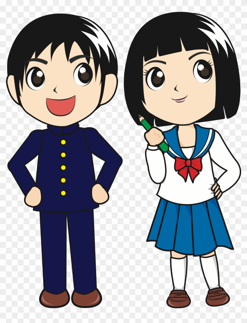 Japanese Students - Japanese Student Clipart #202370