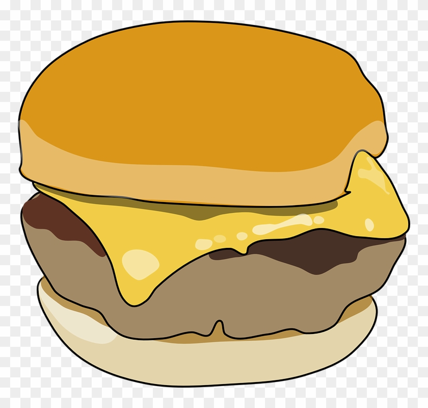 Burger Clipart Transparent Background - Breakfast Sandwich Clipart #202373