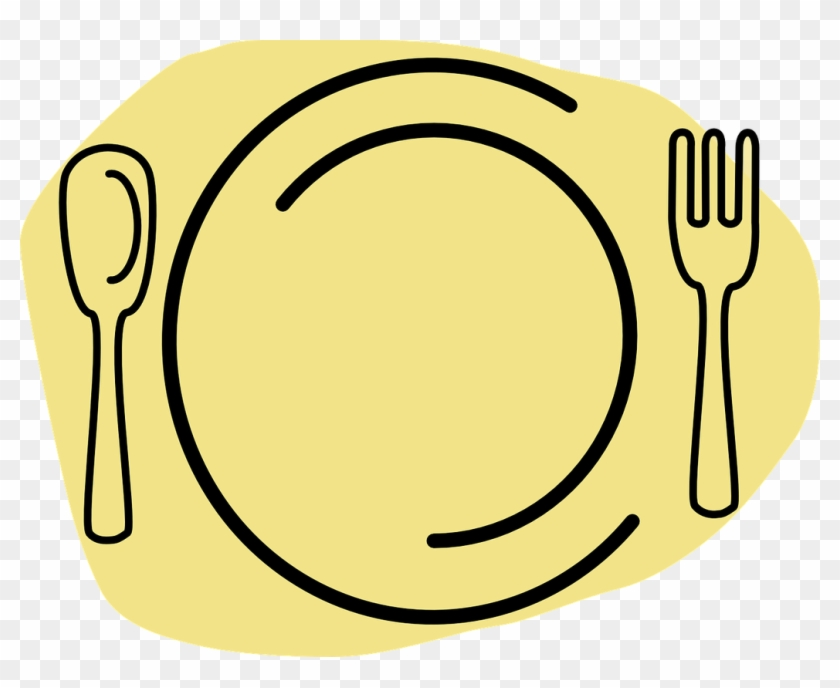 Cutlery Clipart Meal Plate - Spoon And Fork #202388