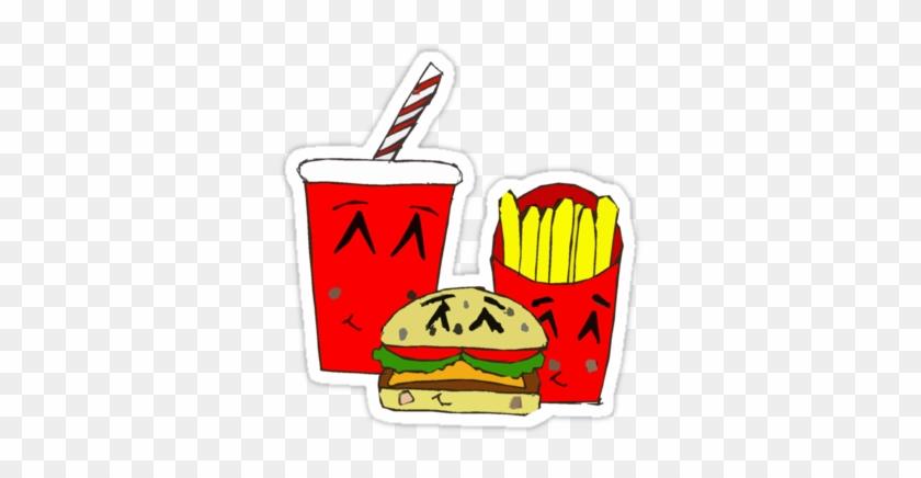 Cute Fast Food Cartoon Stickers By Zozzy-zebra - Fast Food Cartoon Cute #202480