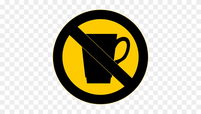 No Food Or Drink Sign Clipart - No Drinks Clip Art #202806