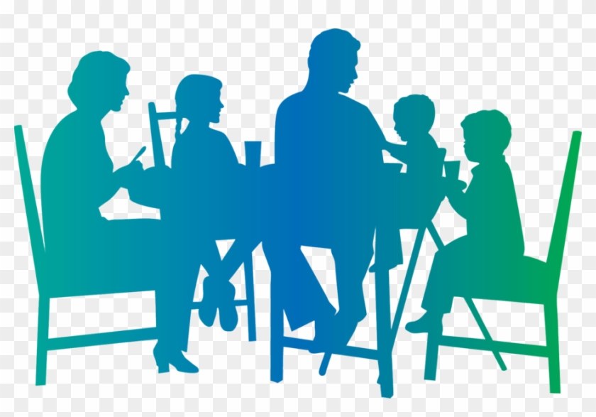 Family Meal Table Clipart - Family Dinner Png #202860