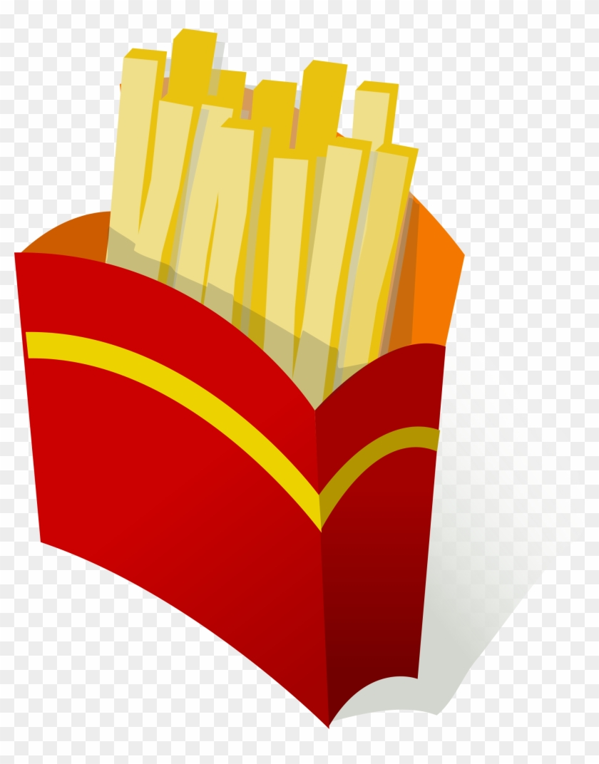 Pommes Frites / French Fries Free Vector - Unhealthy Foods Clipart #202862