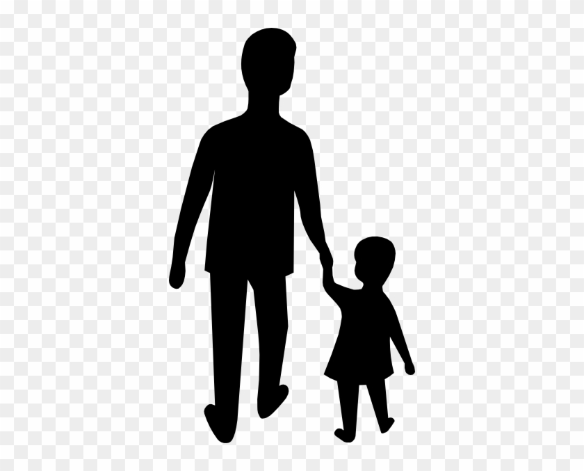 Parent Dad Hold Child Hand Clip Art - Dad And Son Clip Art #202884