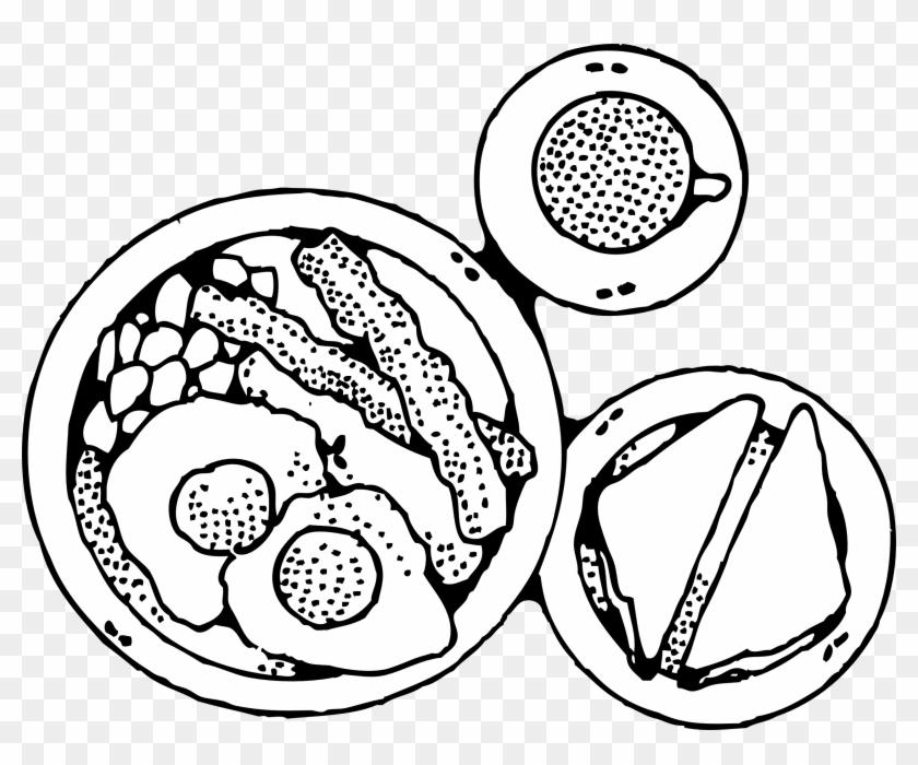 Breakfast Eggs Clipart - Breakfast Black And White #202897