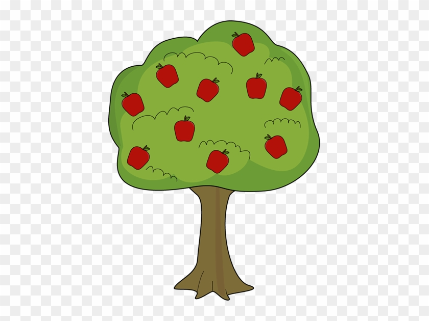 Apple Tree With Fallen Apples Clip Art - Apple Tree Clipart #202941