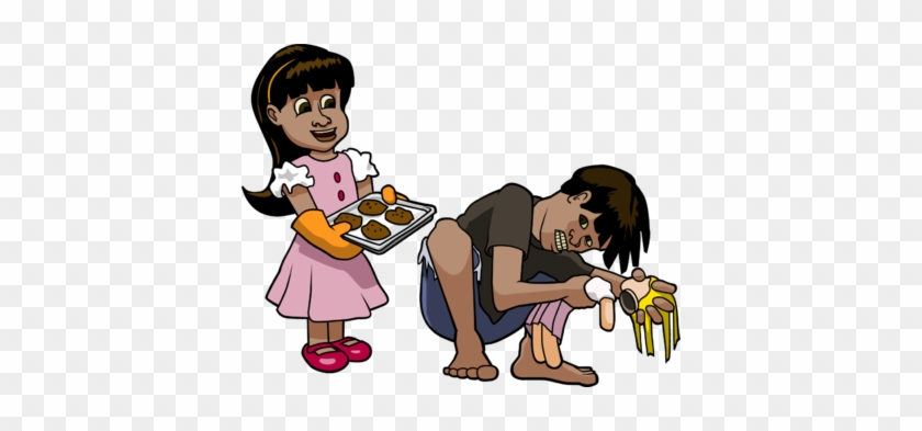 Girl Giving Cookies To Boy - Show Love To Others #203060