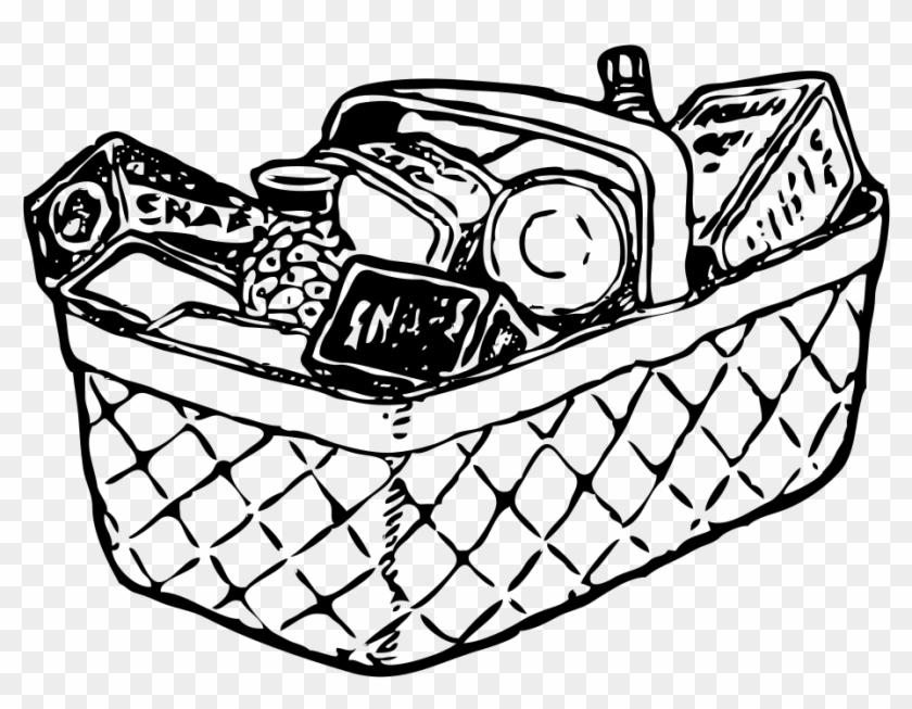 Grocery Basket - Food Basket Clip Art #203173