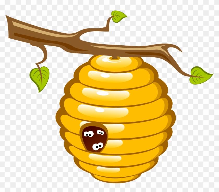 Honey Bee Beehive Clip Art - Honey Bee Clipart Png #203261