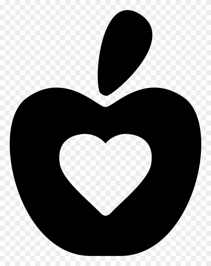 Healthy Food Symbol Of An Apple With A Heart Comments - Symbol Of Healthy Foods #203373