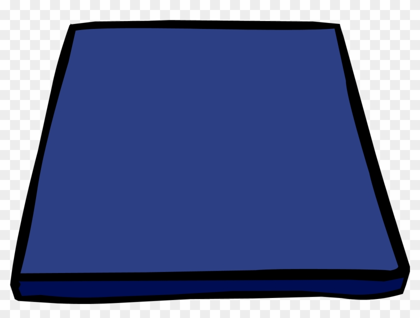 Blue Gym Mat Sprite 003 - Gym Mat Clipart - Free Transparent