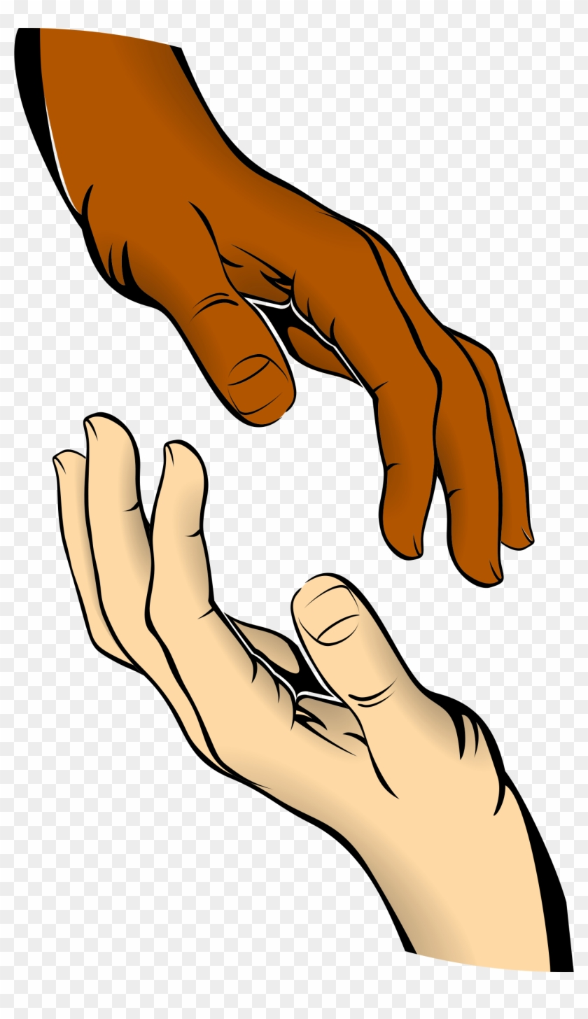 Clipart - Hands - Hands Reaching For Each Other Clipart #203922