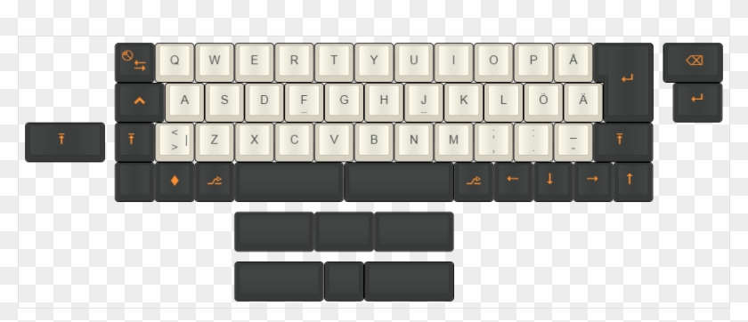 Iso 40% Concept - Computer Keyboard - Free Transparent PNG Clipart