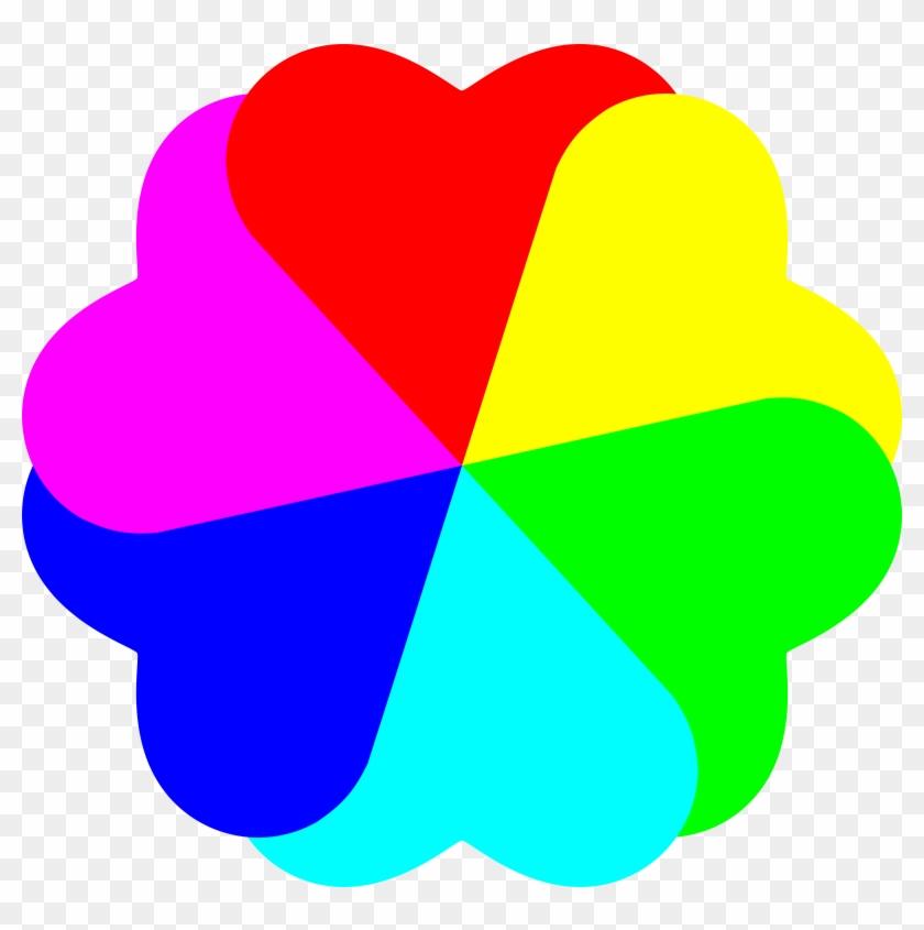 Big Image - Rainbow Love Heart Clipart #1269386