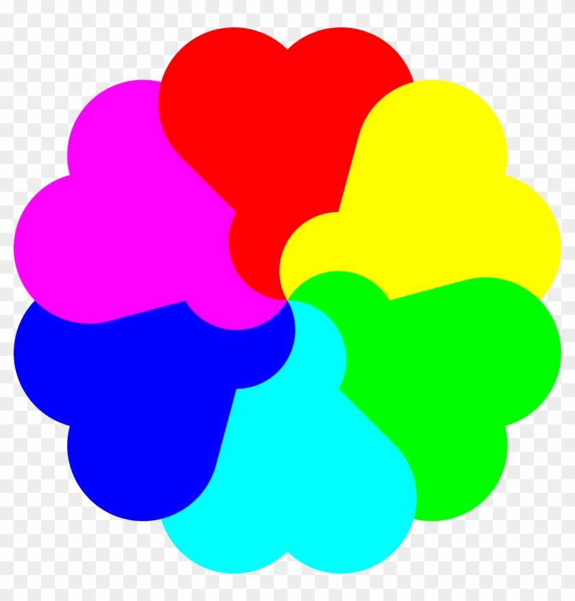Big Image - Rainbow Love Heart Clipart #1269391