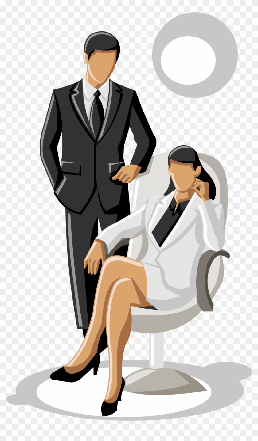 Vector Business People Talking - Say At A Job Interview #1270174