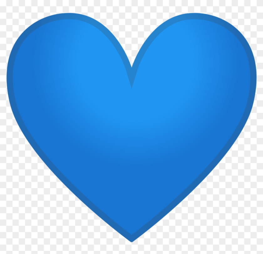 Blue Heart Icon - Blue Heart Emoji Png - Free Transparent