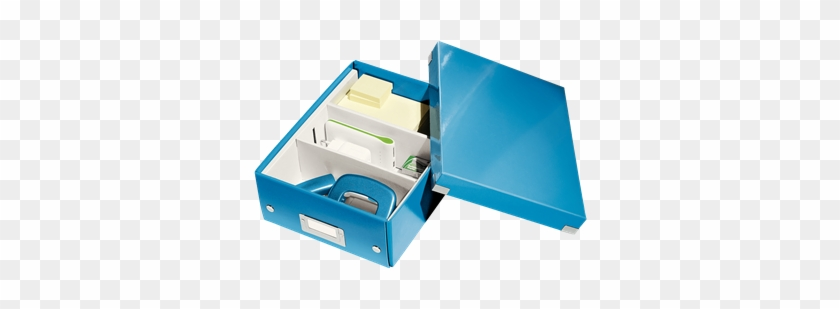 Organiser Box With 2-3 Flexible Compartments - Leitz Click & Store Small Organiser Box Blue #1271521