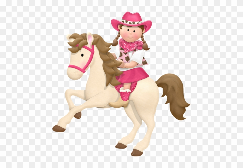 Girl Horse Cliparts - Cowgirl On Horse Clip Art #1272174