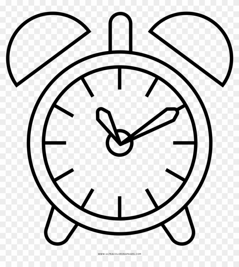 Alarm Clock Coloring Page Circle Free Transparent Png Clipart
