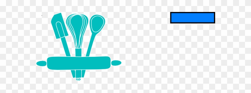 Bakery Svg Clip Arts 600 X 231 Px - Whisk And Spatula Clipart #1272305
