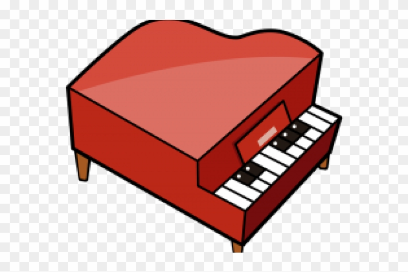 Piano Clipart Red Piano - Object That Produces Sound - Free