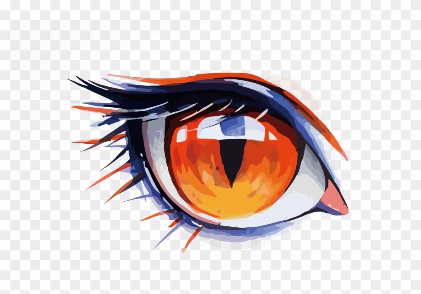 Watercolor Painting Drawing Eye Anime Wolf Eye Drawing Free