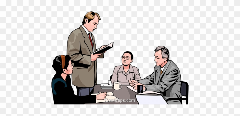 Business Meeting, People In Business Royalty Free Vector - People In A Meeting Clipart #1274634