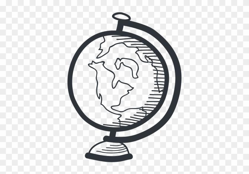 Download Png File 512 X - Hobbycraft Drawn Globe Travel Stamp 3.8 X 3.8 Cm #1274655