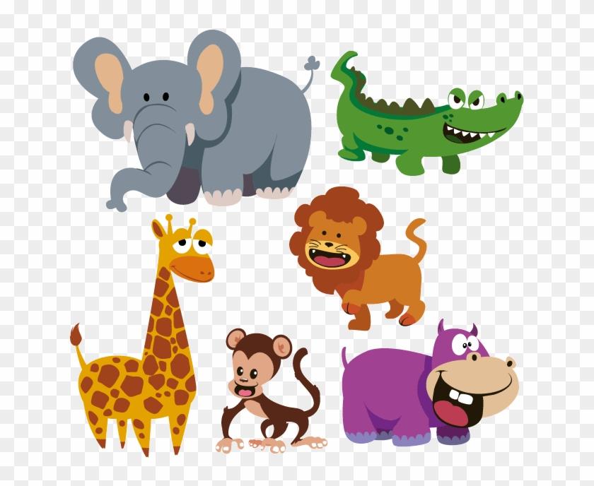Divertidos Animales Salvajes Imagen Vectorial De Divertidos - Arpan Large Baby Alphabet Slip In Case Photo Album #1274744