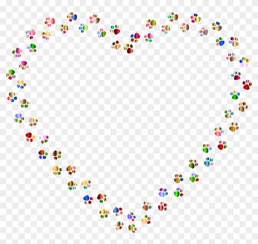 Paw Clipart Rainbow Paw Print Hearts Background Free Transparent Png Clipart Images Download Please remember to share it with your friends if you like. paw clipart rainbow paw print hearts