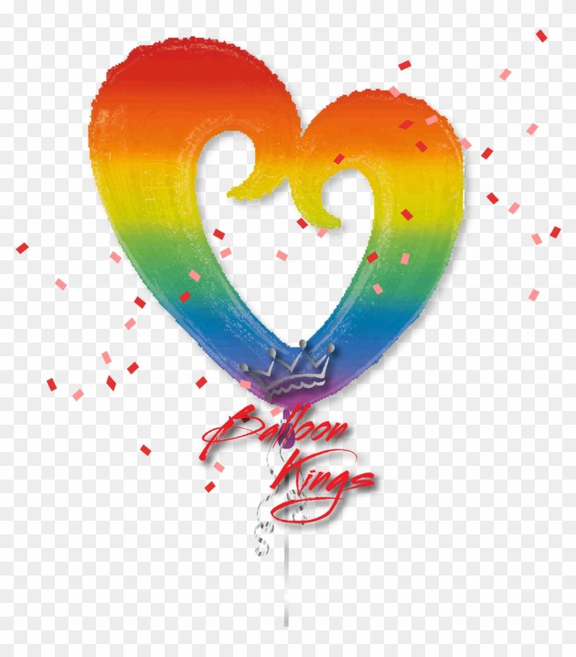 Rainbow Open Heart - Heart #1274809