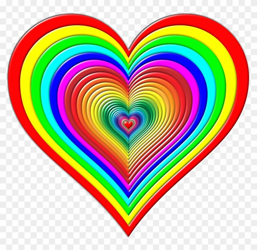 Big Image - Small Rainbow Hearts - Free Transparent PNG ...