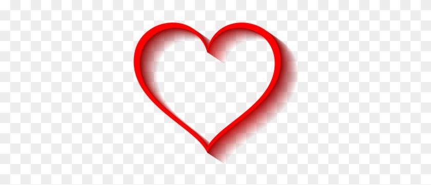 Heart Volume Shadow Transparent Backg Cuori Rossi Sfondo