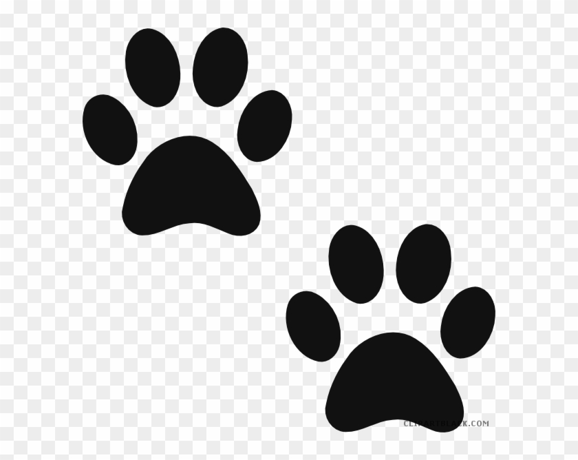 Paw Print Animal Free Black White Clipart Images Clipartblack Cartoon Dog Paw Print Free Transparent Png Clipart Images Download