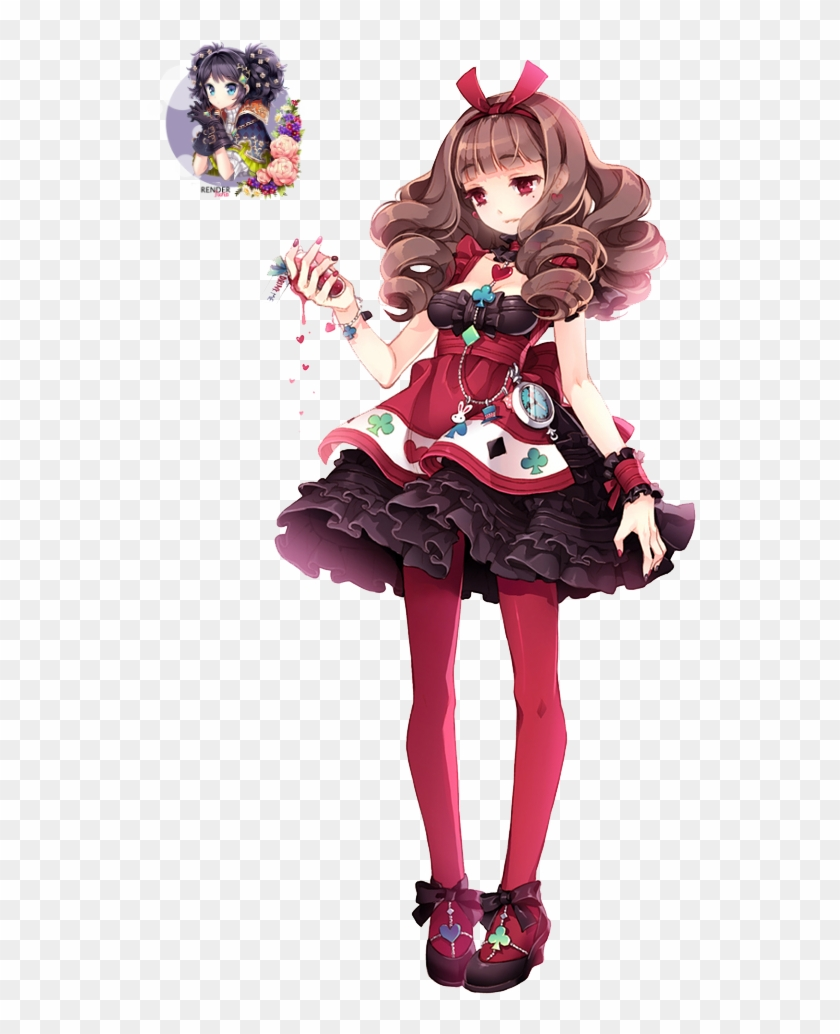 Anime girls fancy dress alice in wonderland anime red queen 1276930