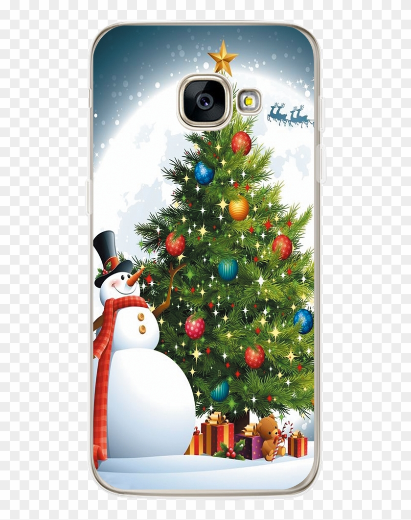 Fashion Landscape Seawater Print Design Phone Cases - Wall Tapestry Christmas Tree Moon Snowman Wall Tapestry #1280056