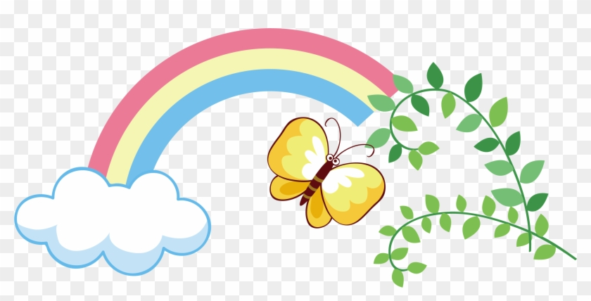 Rainbow Butterfly Clipart Png Text Portable Network Graphics