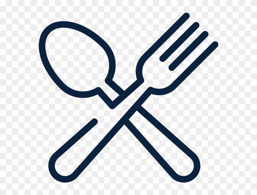 Fork Knife Computer Icons Spoon Clip Art - Fork And Spoon Outline #1280594